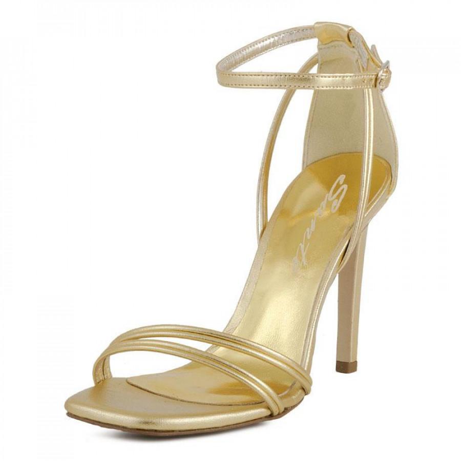 53b7de732a88 Γυναικεία Πέδιλα Sante19215 Gold | E-SHOES.GR