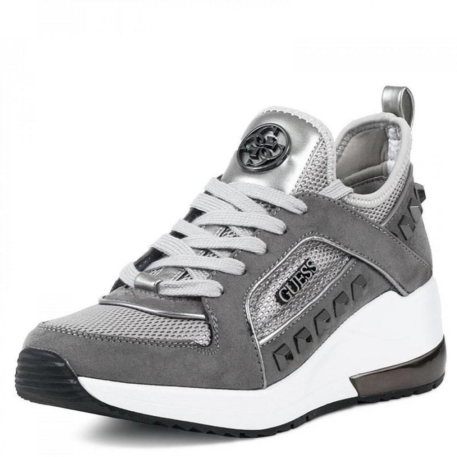 91e22d2598d Γυναικεία Sneakers Guess JulyannFL5JUL Silver   E-SHOES.GR