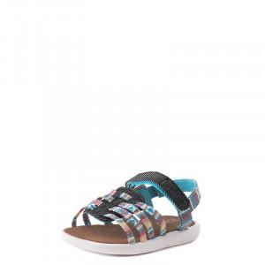 Tiny Huarache Stripe Sandal Toms