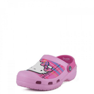 CC Hello Kitty Plaid Clog Crocs