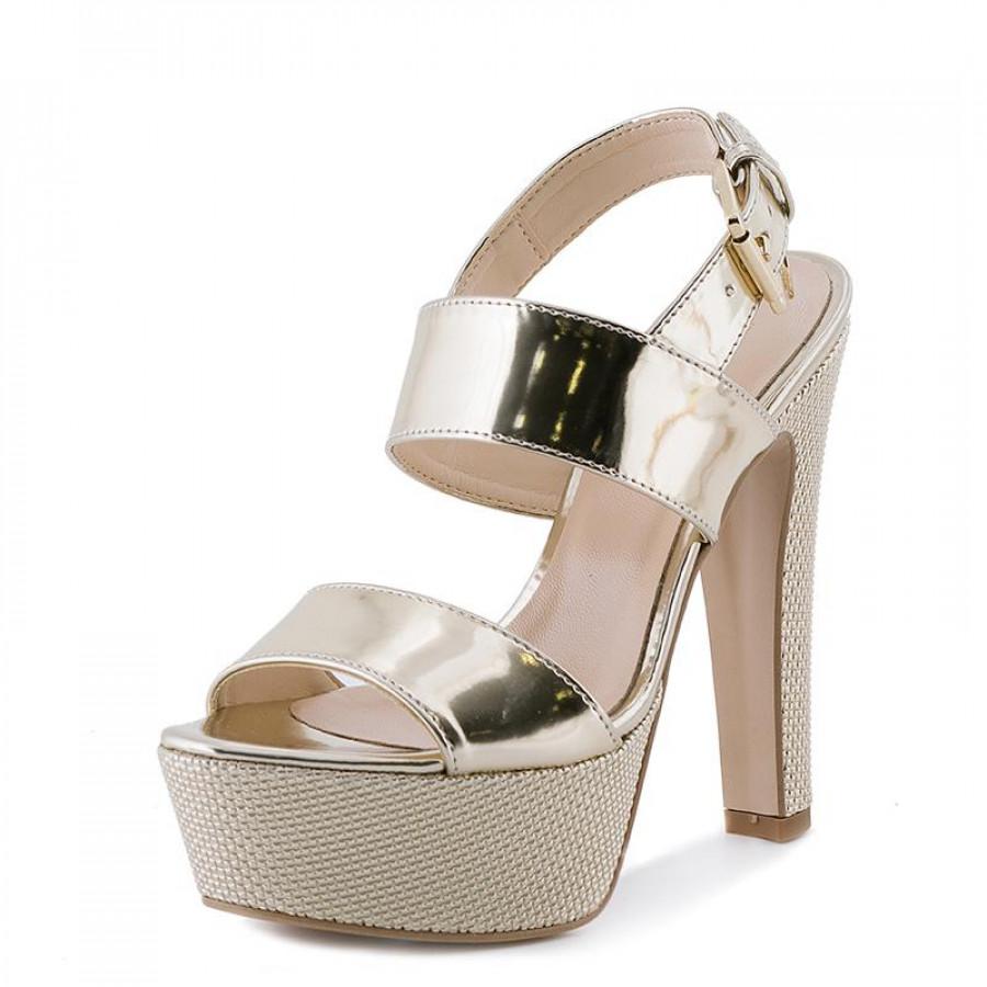 ecc406a6f52 Γυναικεία Πέδιλα Trussardi Jeans79S591 Gold | E-SHOES.GR