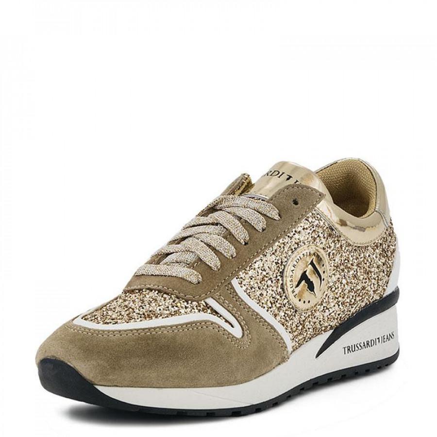 Γυναικεία Sneakers Trussardi Jeans79A086 Gold  8ef9902a50d