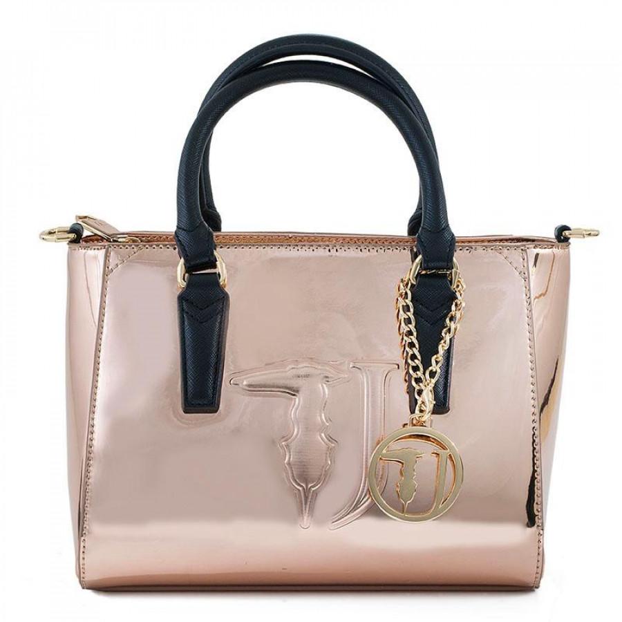 Γυναικείες Τσάντες Trussardi Jeans75B00180-35 Ροζ-Χρυσό  1861651a1fe