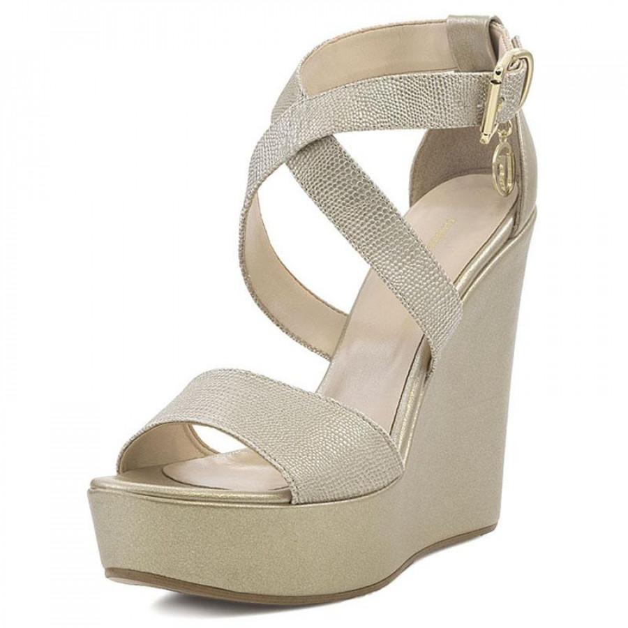146bb882477 Γυναικείες Πλατφόρμες Trussardi Jeans79A00213 Gold | E-SHOES.GR