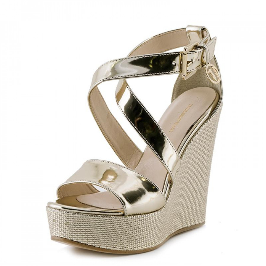 07e210ad178 Γυναικείες Πλατφόρμες Trussardi Jeans79S592 Gold | E-SHOES.GR