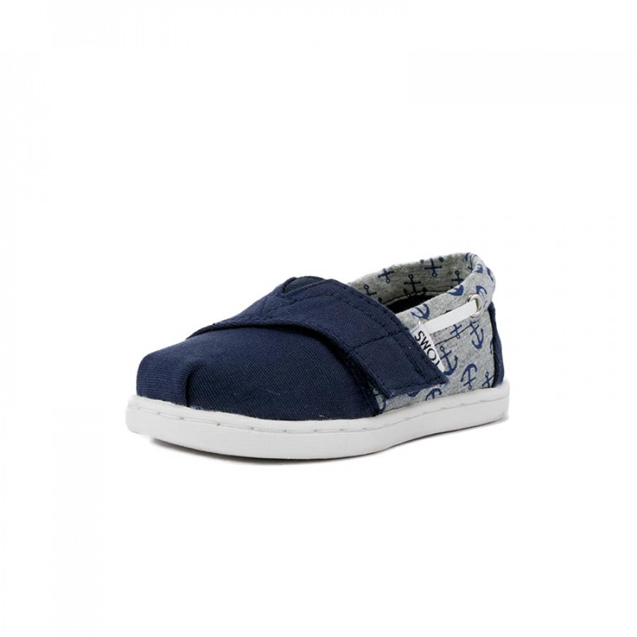 Παιδικές Εσπαντρίγιες Toms Tiny Bimini Navy Canvas Jersey Anchors ... 1792864fa9b