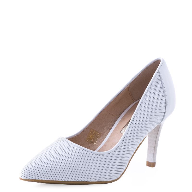 E-shoes Γυναικείες Γόβες Patricia Miller (PM782 White) 30e3ca82402