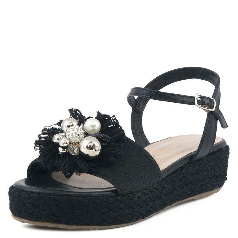 E-shoes Γυναικεία Flatforms Pargiana (PGS282 Black) 2d1d46907db