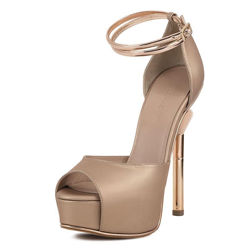 E-shoes Πέδιλα Dukas Blush Silk (9DBLS Nude) 94aa1c4f427