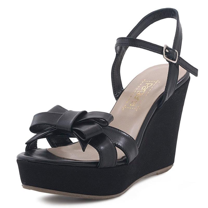 E-shoes Γυναικείες Πλατφόρμες Pargiana (PGS689 Black) 14bfafcb925