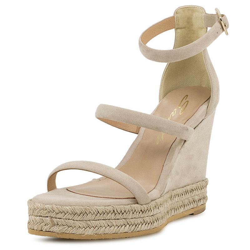 E-shoes Γυναικείες Πλατφόρμες Sante (19131-63 Beige) d009bac9d88